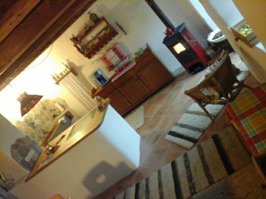Urgemütliche Küche nur für unsere Gäste erbaut