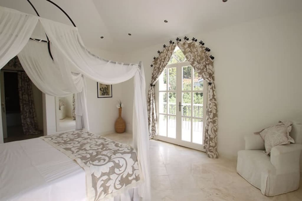 Large and airy master bedroom
