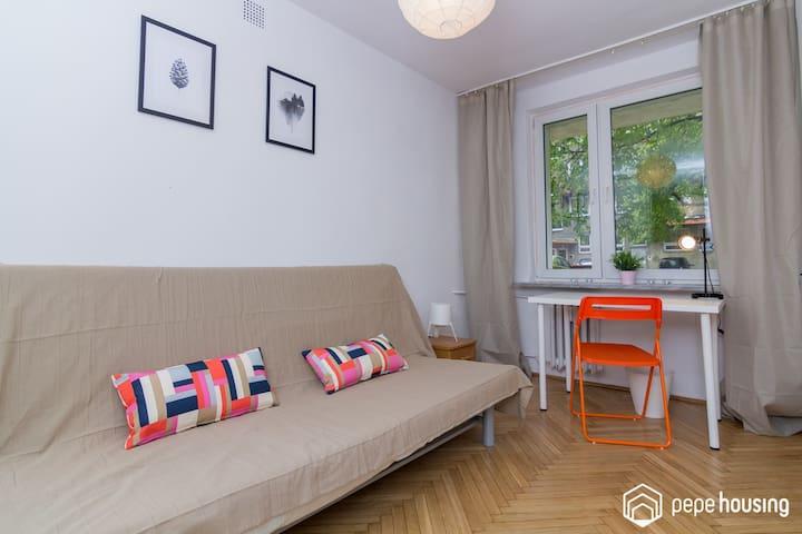 Single room I at Mokotow, close to the city centre