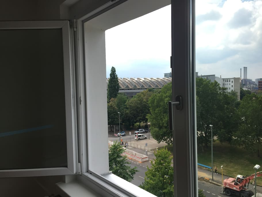View of Ostbanhof from room