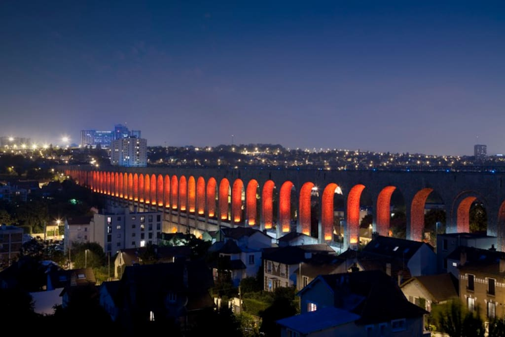 Cachan Aqueduc built in the 19th century to drive water to Paris