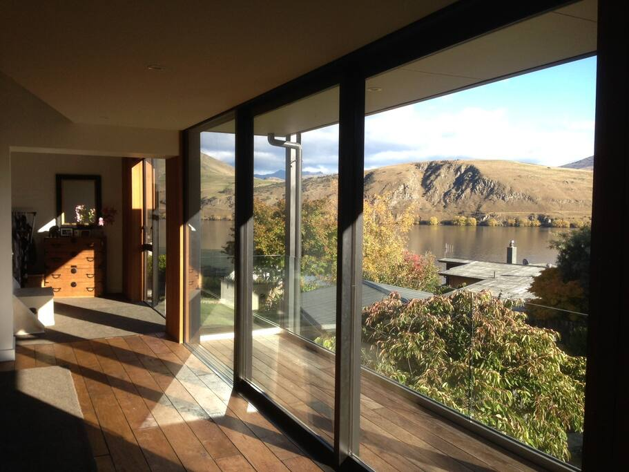 Lake Hayes view though living area