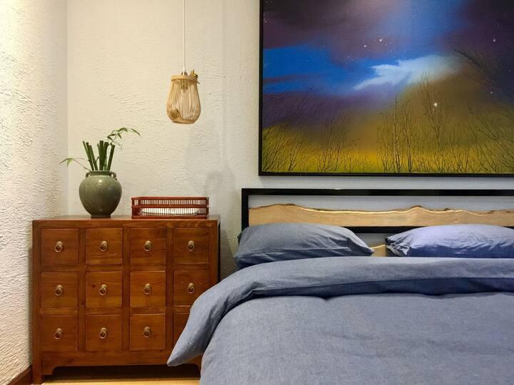 町舍  崂山景区艺术民宿 带您感受原创的魅力4号房