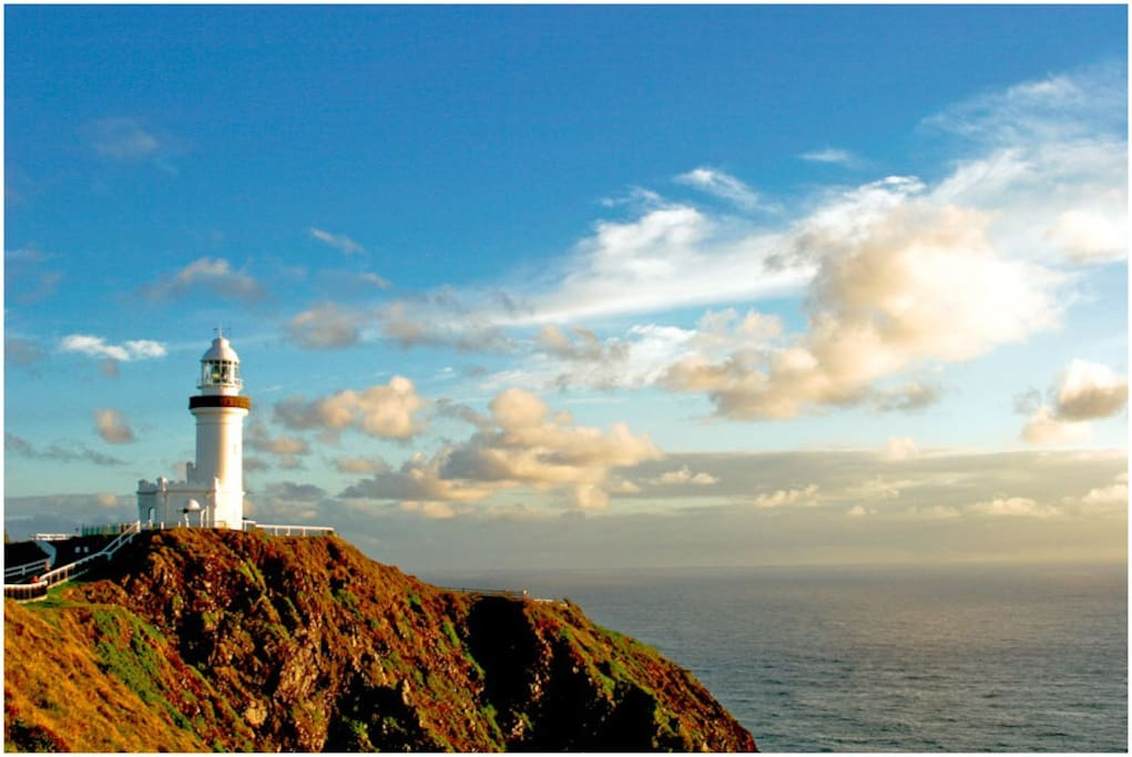 the fabulous Byron Bay lighthouse, the best place for winter whale watching