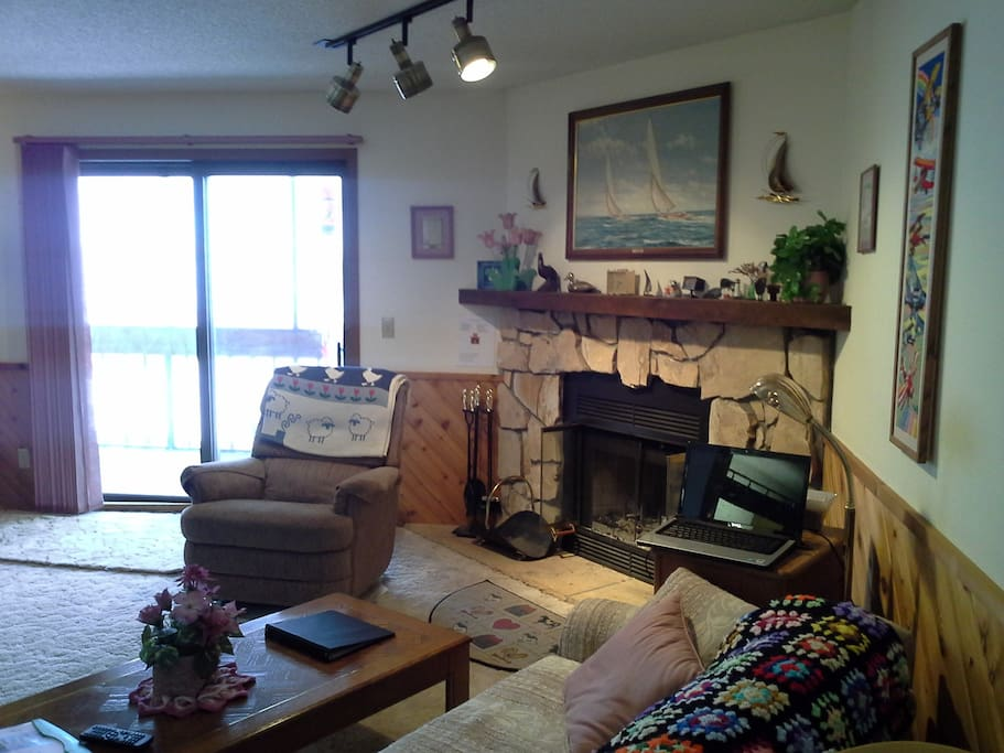 Living Room w/ Full Size Pull Out Couch