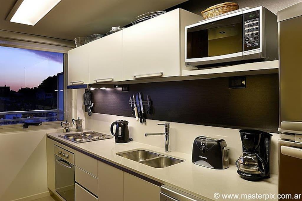 Very moder kitchen.