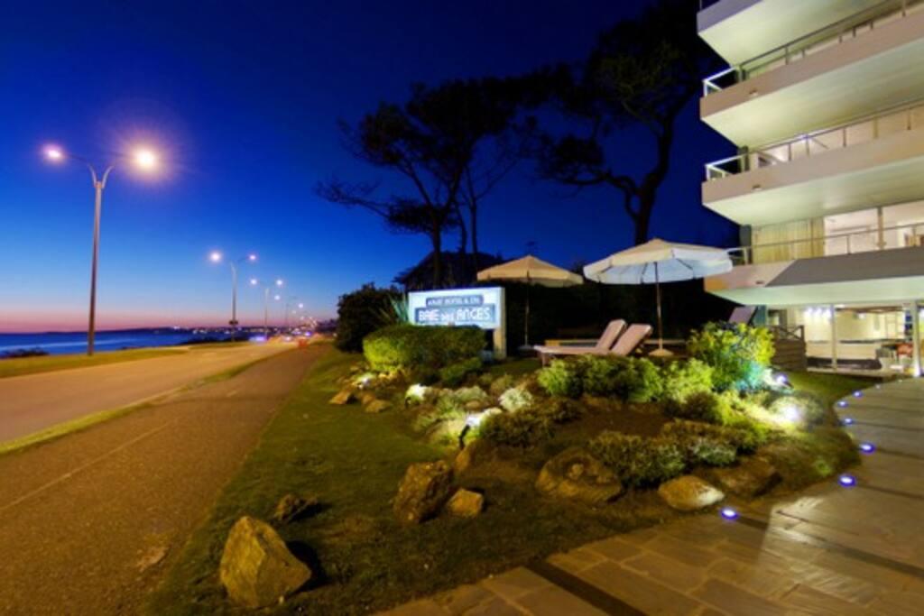 Mansa beach and facade