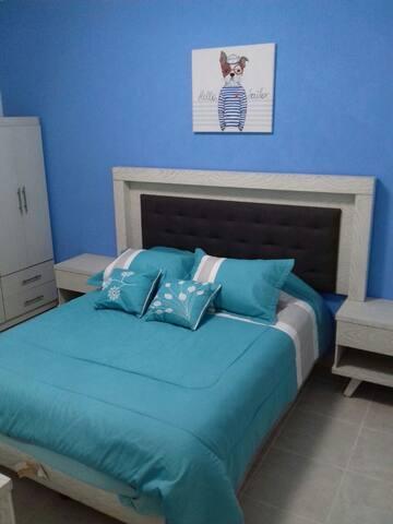 Dormitorio 1, cama queen size