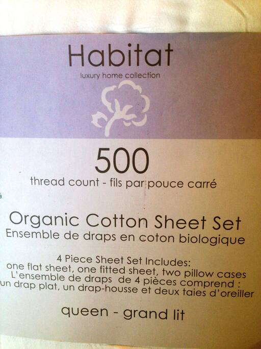 Bed sheets - Organic Cotton