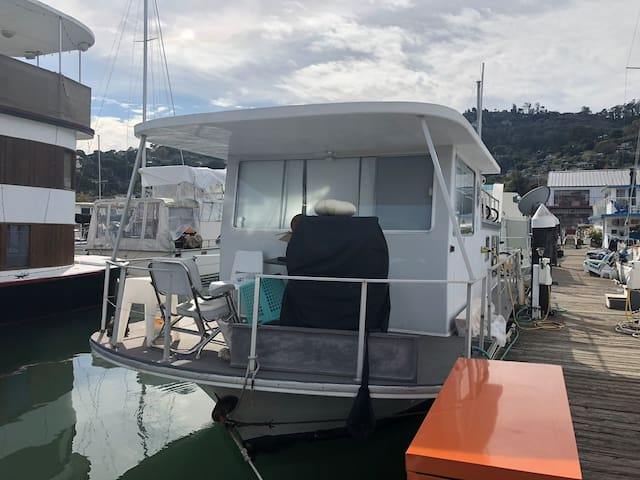 Sunny updated Houseboat live right on the water