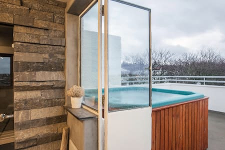 ROOFTOP SPA & PRIVATE BATH DOWNT. 2 - Reykjavik - Haus