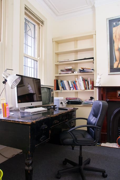 The study is a great place to sleep, work or curl up and read a book.