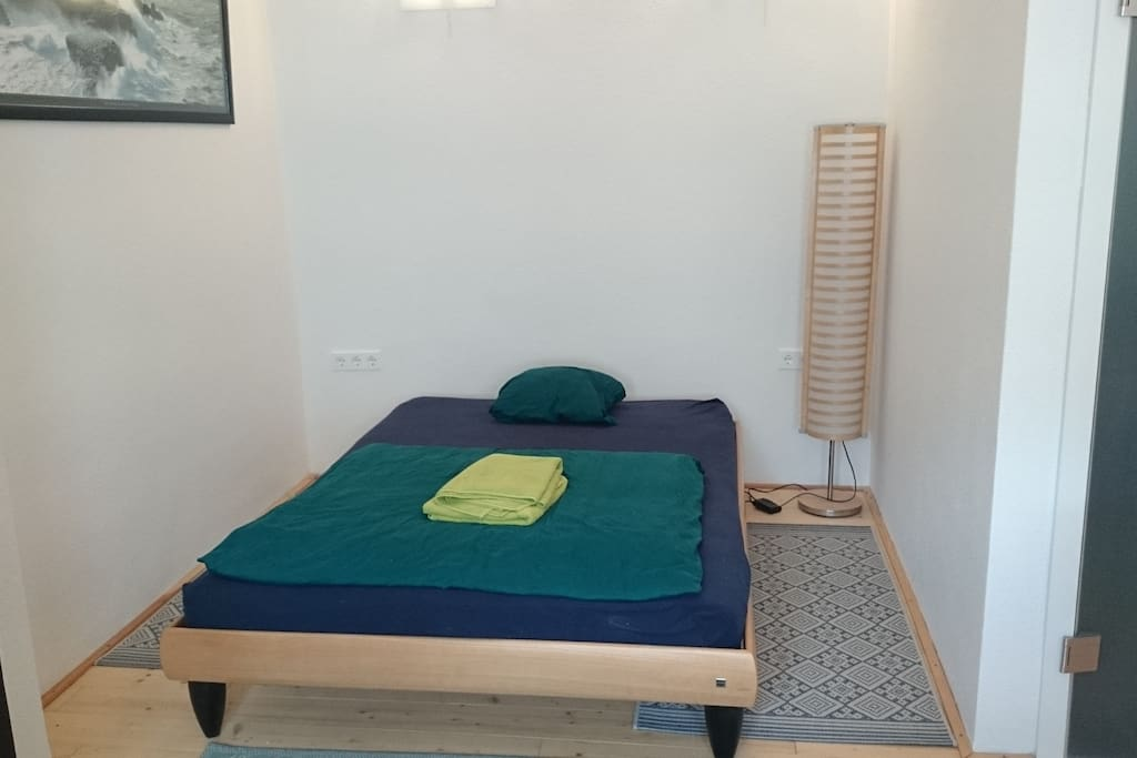 1,4 m broad bed, so you can use it for two persons - if you like