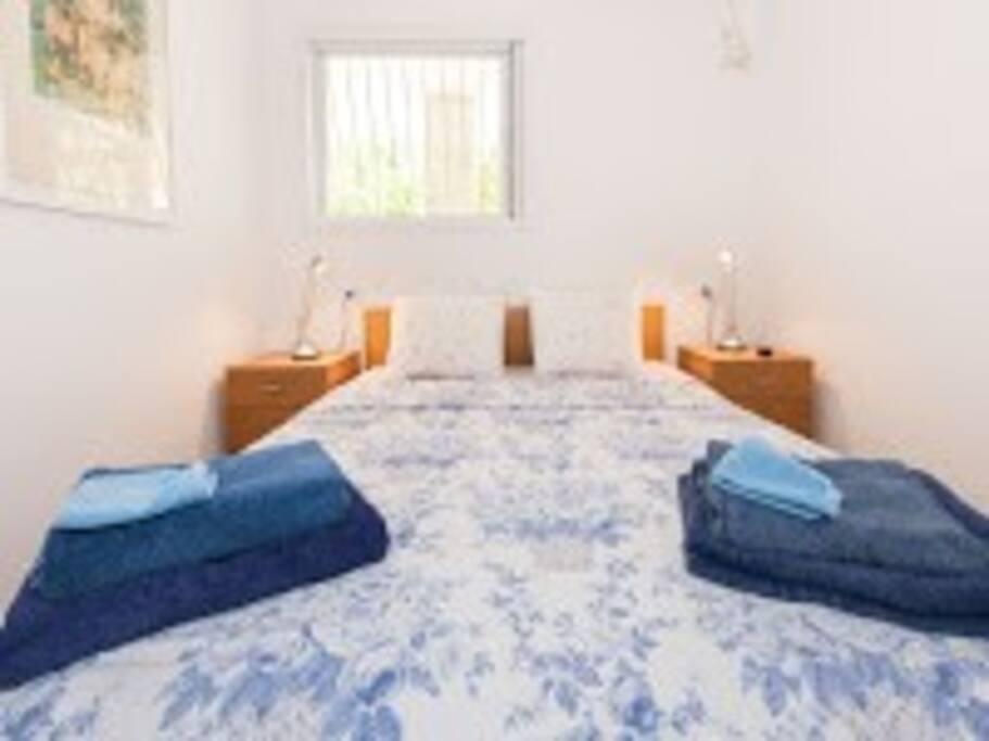 Main  bedroom: Comfortable  Queen-Size  Double Bed