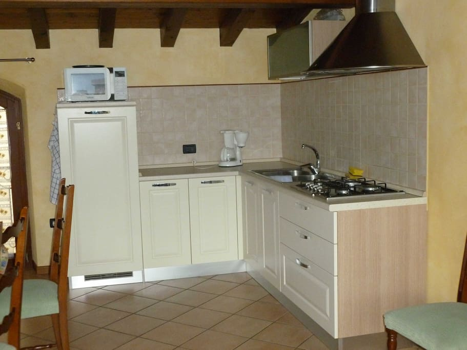 Fully equipped kitchen and large fridge