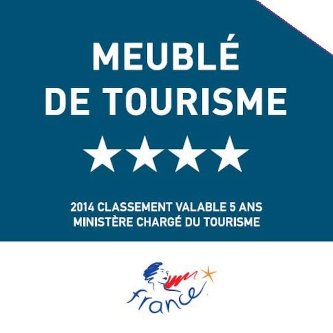 Classified 4 star by the Tourist Office