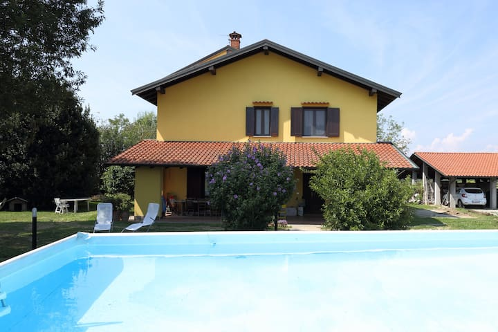 Farmhouse in nature,near Novara,Lakes and Malpensa - Fornaci - House