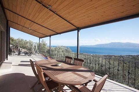 375 sqm stone villa in olive garden near Assos