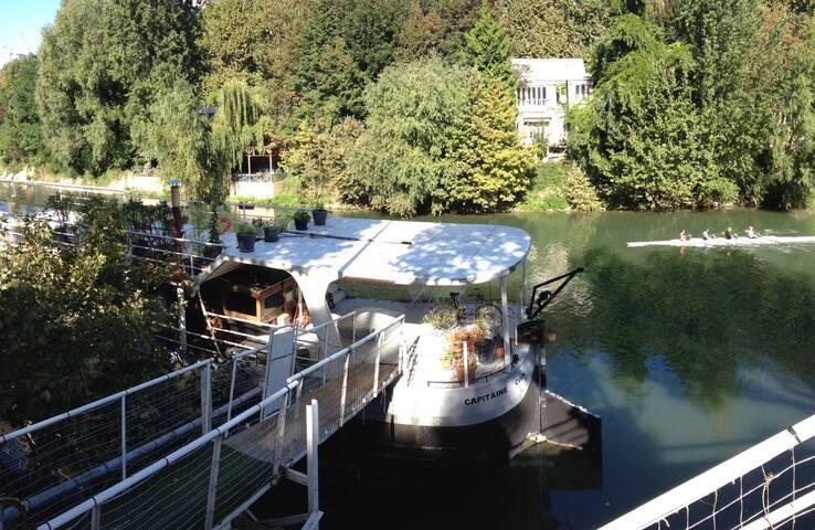 Studio avec Terrasse sur PENICHE dans la nature ! - Neuilly-sur-Seine - Bateau