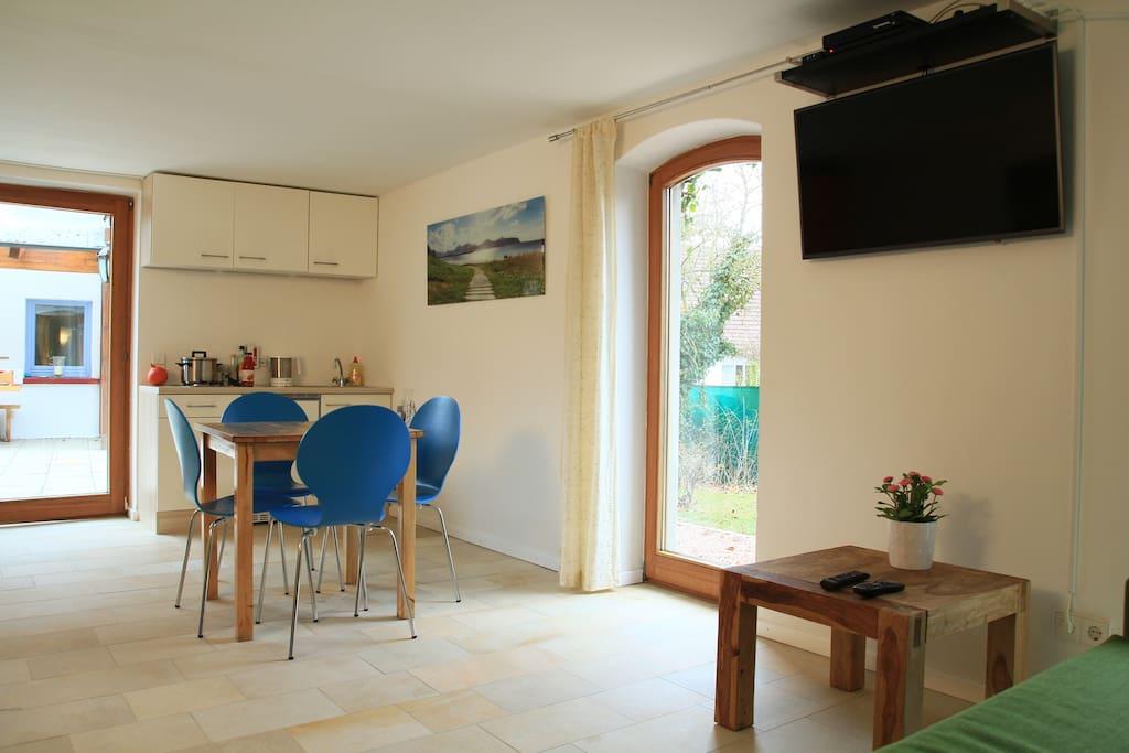 Das Apartment ist 40 qm groß