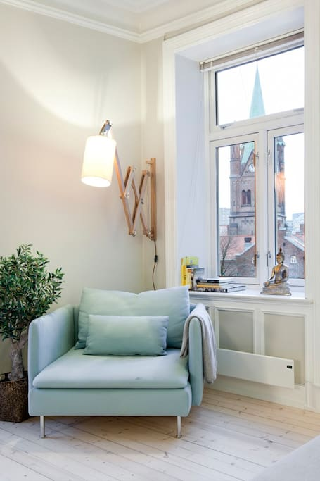 Cosy reading corner with great views towards the Church