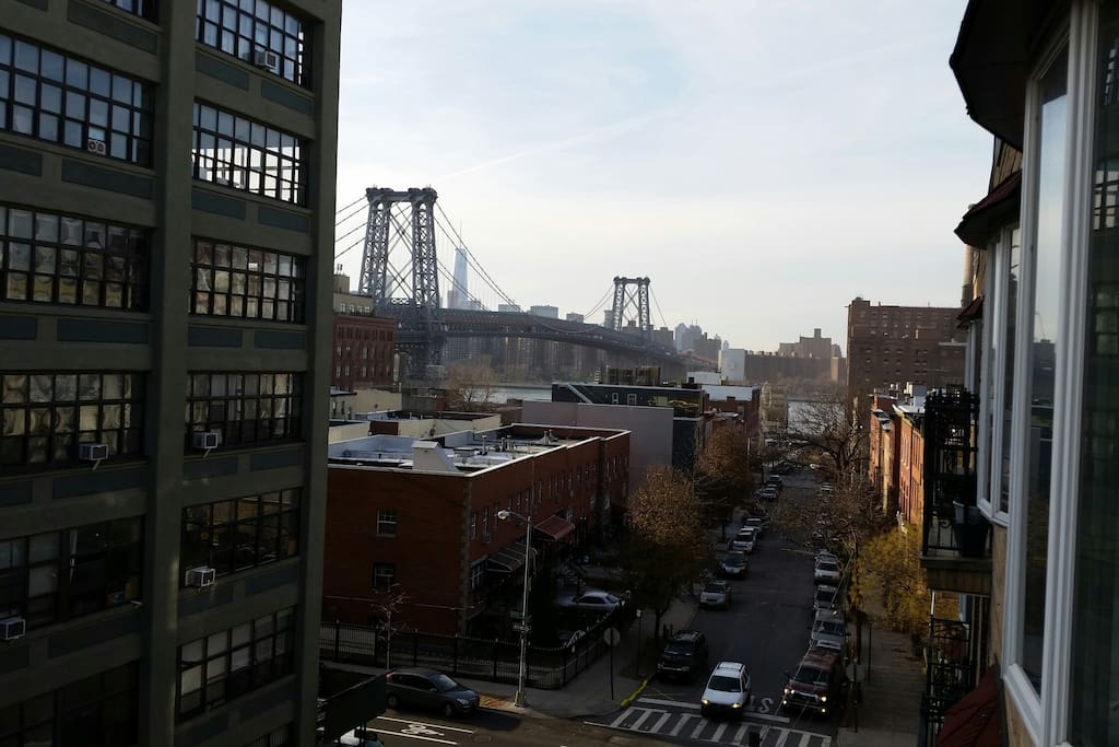 View from Terrace of City & Williamsburg Bridge