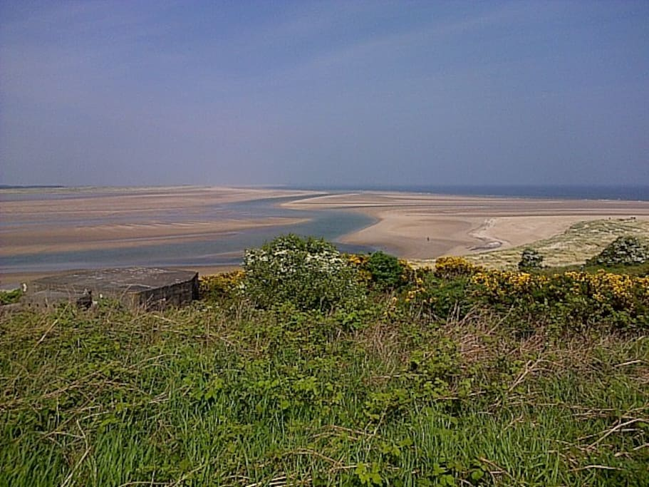 View across Budle Bay
