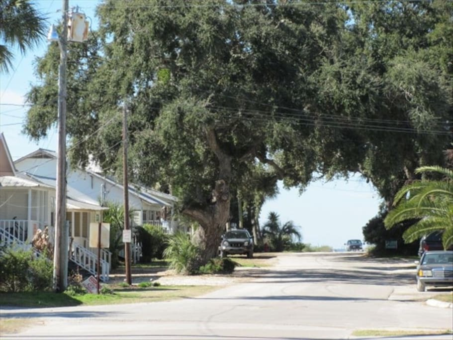 Down the street to the right leads you to the airport and by the Gulf of Mexico on the left of the road.