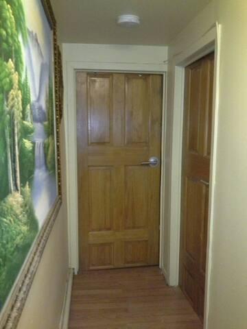 Secure electronic individual locking bedroom doors