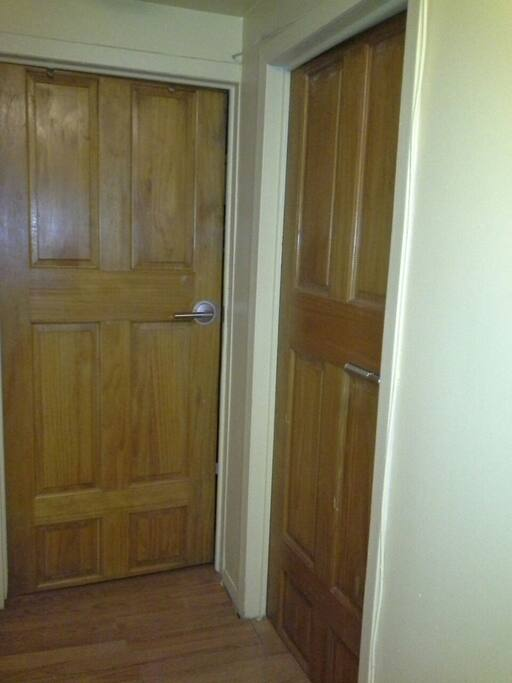 Secure closing bedroom doors for privacy.