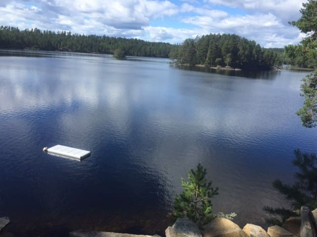 Flott hytte ved idyllisk vann - Ringerike - Cabin