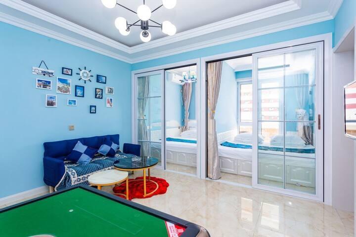 鲅鱼圈山海广场双室海景麻将儿童房