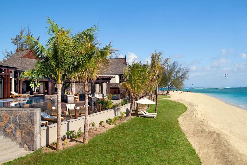 St. Regis 2 Bedroom Villa - View from the Beach