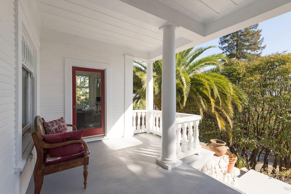 Gracious living. Front porch.
