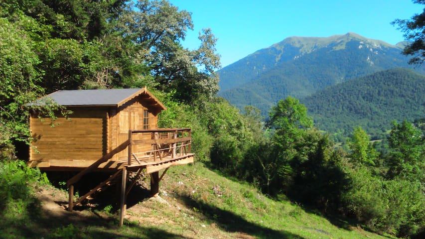 Cabane dans les Pyrénées