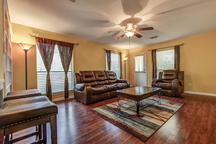 living room also has a sleeper sofa for two.