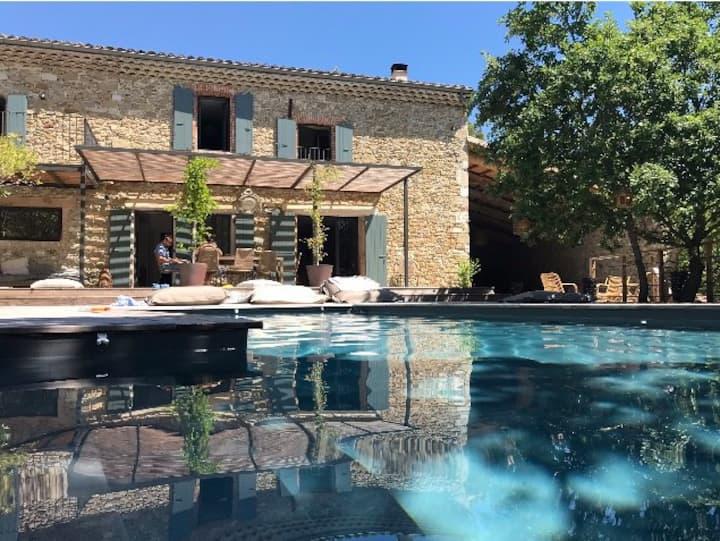 Belle villa en Pierre, Piscine, Drome provençale
