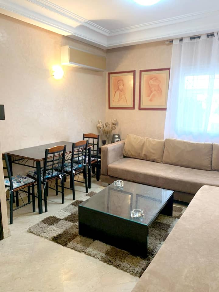 Apartment with 2 bedrooms in Casablanca, with wonderful city view, enclosed garden and WiFi - 10 km from the beach