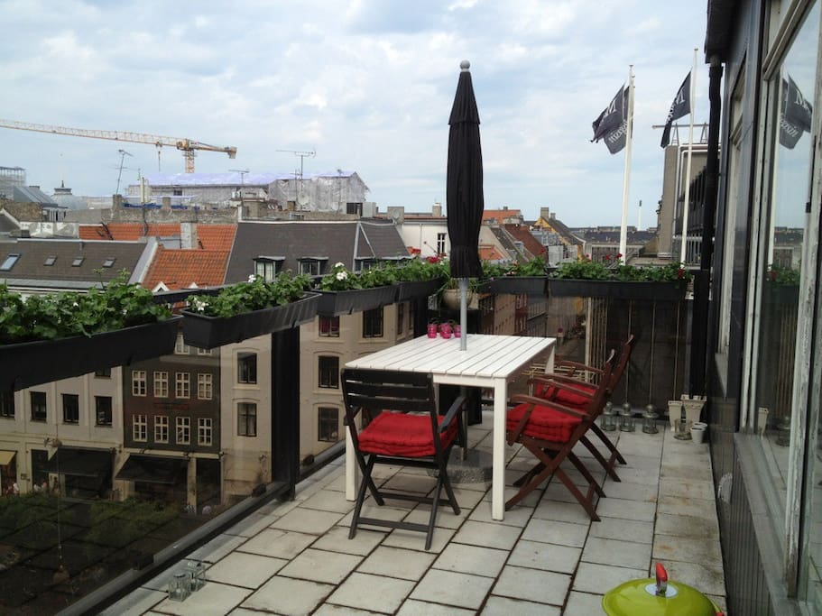 My lovely roof terrace one evening in may