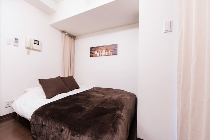 Osakacastle HOTEL【Double bed room】Free Wi-Fi 601