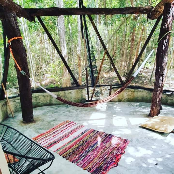 Bungalow in the jungle, near the ocean & cenotes