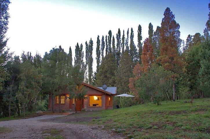 Cozy houses in the Andes, El Bolson, Patagonia