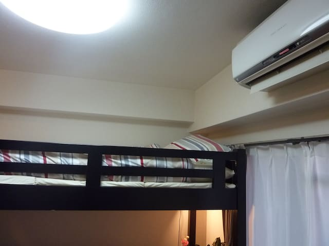 The loft and air conditioner(cool and warm).