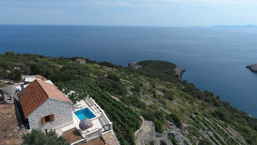 Unique stone house with breathtaking view