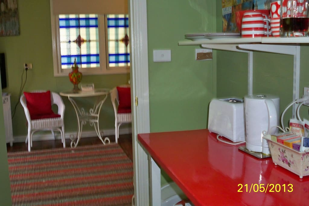 well equipped separate kitchenette