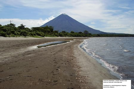 Ometepe Private Beach Cabin w/kit for 2 - 5 guests - Santa Cruz