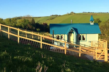 Romantic country retreat with hot tub in South Devon, near Totnes - Marldon - 小木屋
