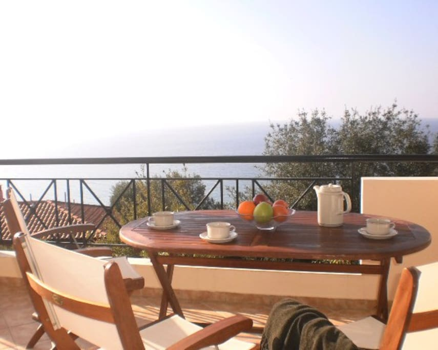 Start your day with a good breakfast watching the sun rising over the sea.