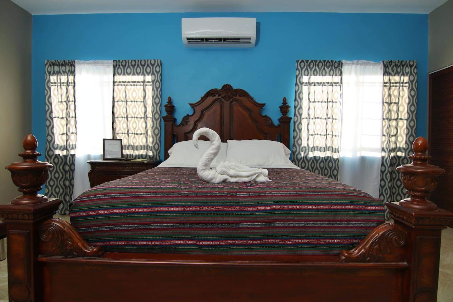 Our Queen size bed, guaranteed a restful night.