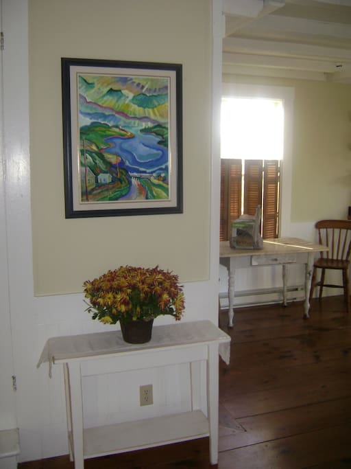 Entryway into the kitchen from the side porch